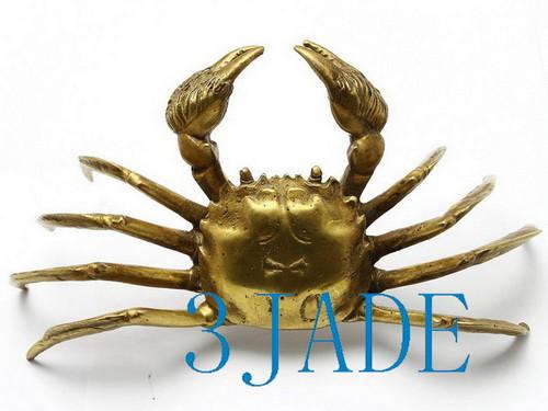 Brass Crab Statue