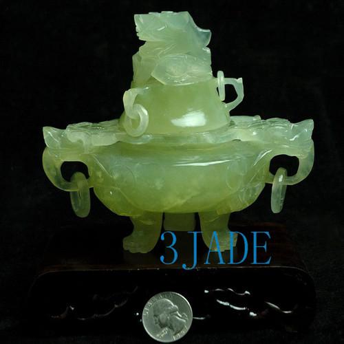 Jade Censer Statue