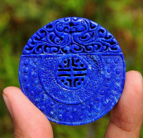 Lapis Lazuli blessing pendant