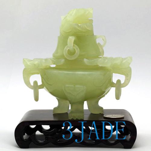 Jade Censer Sculpture