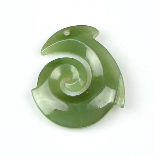 jade spiral pendent
