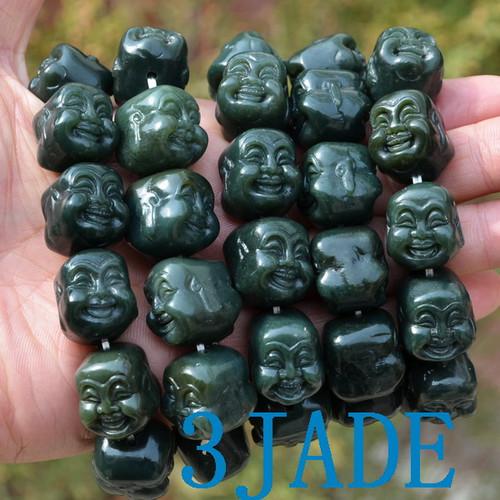 jade Buddha beads