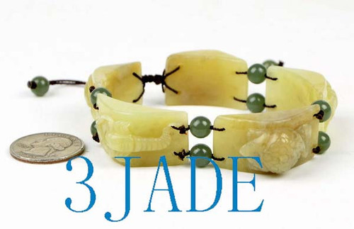 Jade Carved Bracelet