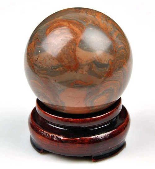Striped Red Marble Sphere