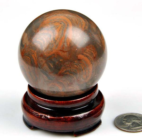 Striped Red Marble Ball