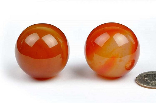 red agate spheres