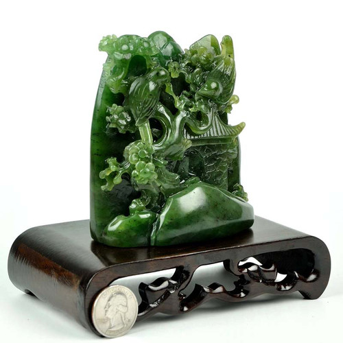 Green Nephrite Jade carving