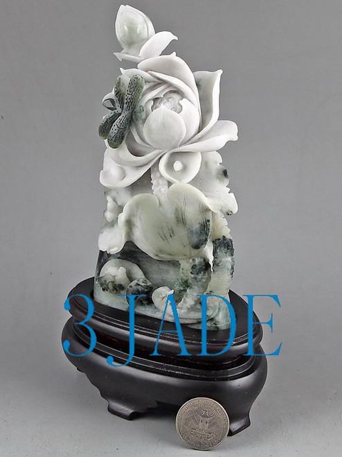 Dushan Jade Lotus Flowers Statue