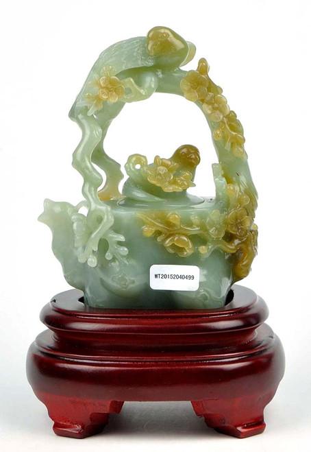 nephrite jade teapot