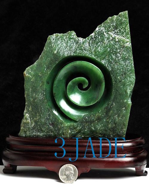 jade Koru sculpture