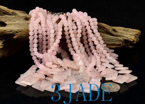 Rose Quartz Gemstone Necklace