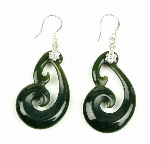 Maori jade earrings