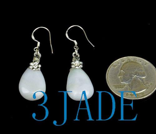 A grade jadeite jade earrings
