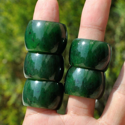 green nephrite jade thumb ring
