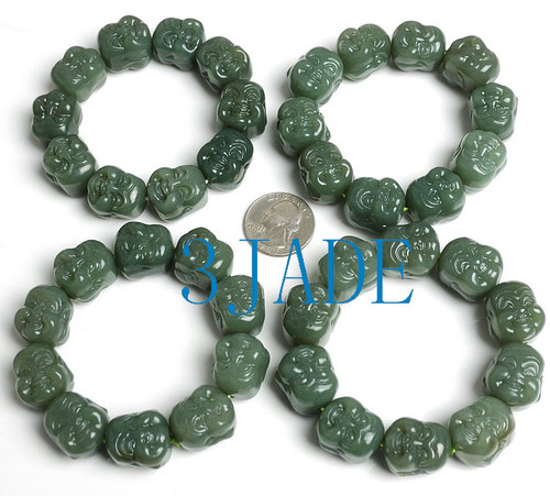hand carved Buddha beads