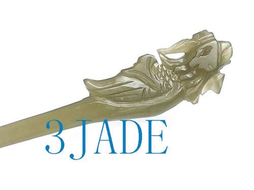 Nephrite Jade hairpin