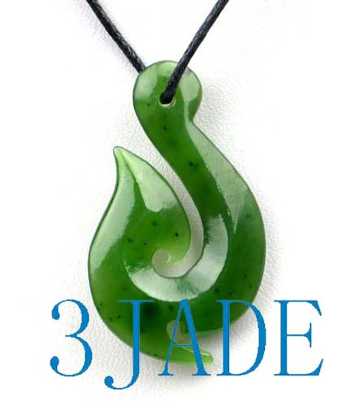 jade fish hook pendant