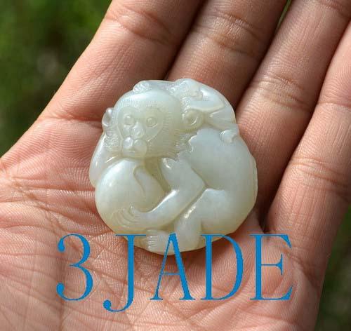 Nephrite jade monkey