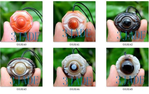 Tibetan Heaven Eye DZI Bead