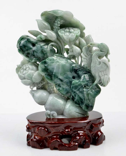 jadeite jade bird flower
