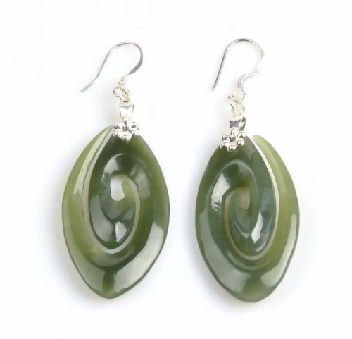 jade spiral earrings
