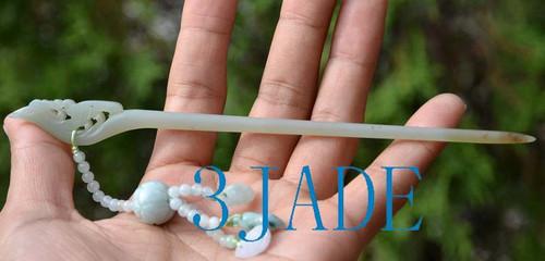 jade hair pin