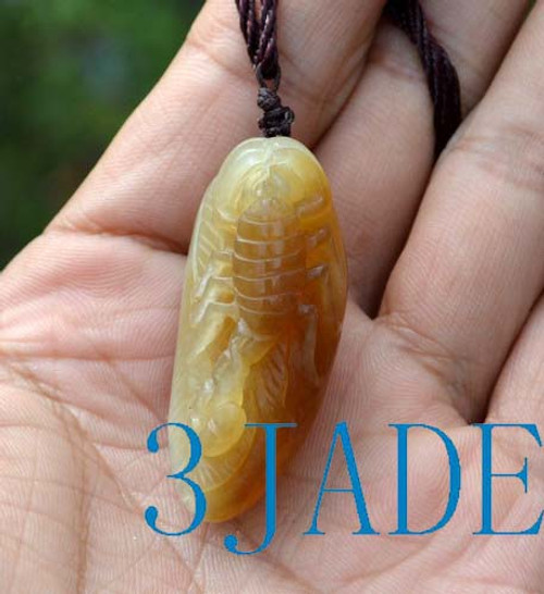 jade Scorpion pendant