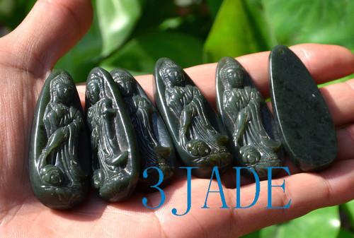 Hetian jade Kwan-yin