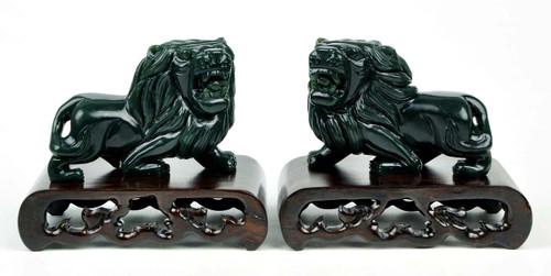jade lion statues