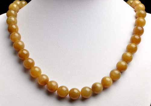 honey nephrite jade necklace