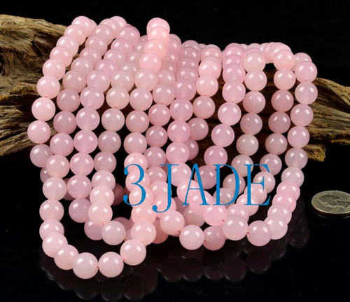 pink jade beads