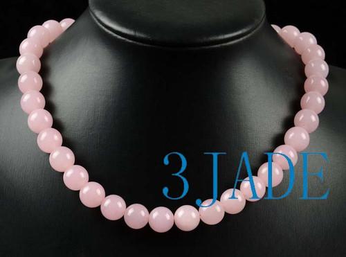 Pink Jade Necklace