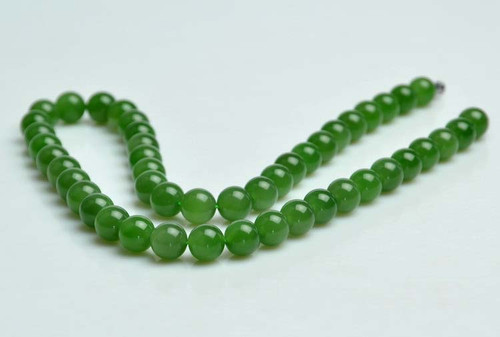 A Grade Green Nephrite Jade Necklace