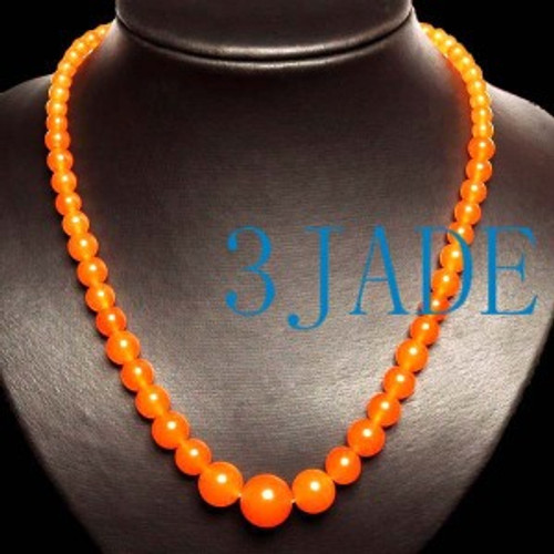 Orange Beads Necklace
