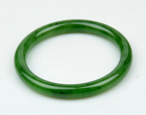 b1864e996c7dc 55.5mm Natural Green Nephrite Jade Bangle Bracelet w/ certificate -C004380