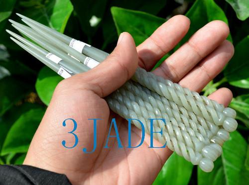 jade twisted hairpin