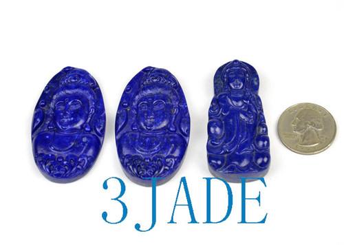 Lapis Lazuli Guanyin Pendant