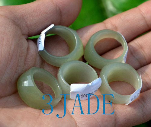Hetian jade ring