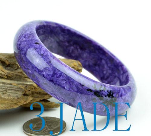 Charoite stone bangle