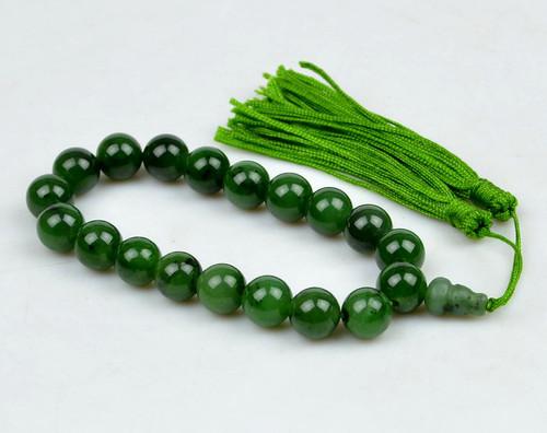 green jade prayer beads
