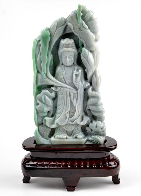Green jade Kwan Yin