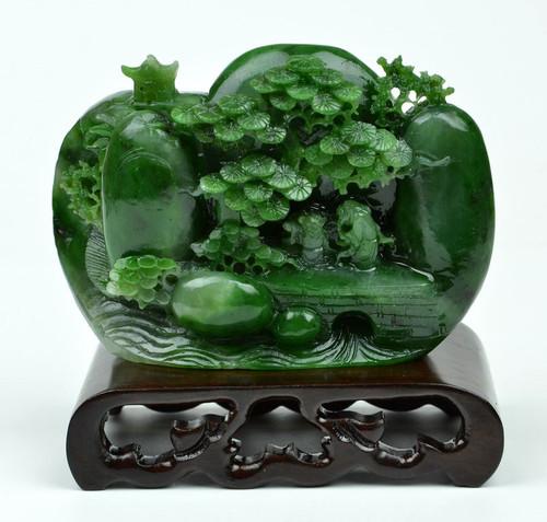 jade Suiseki stone