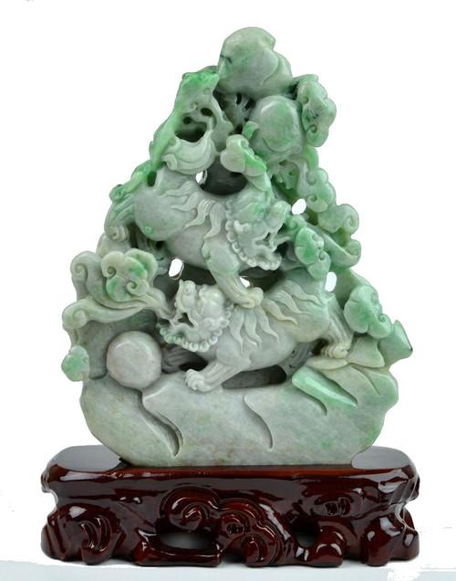 Green Jade Foo Dogs
