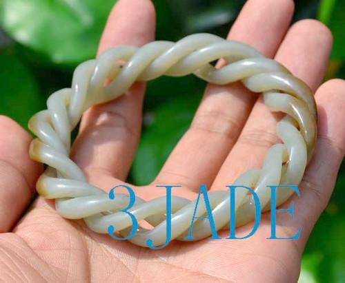 twisted jade bangle