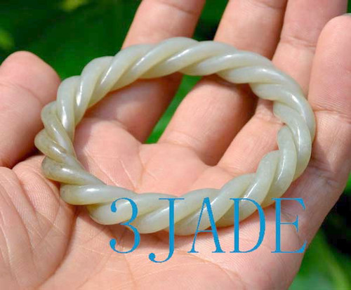 twisted jade rope bangle