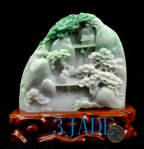 Jade Chinese Mountain Scenery