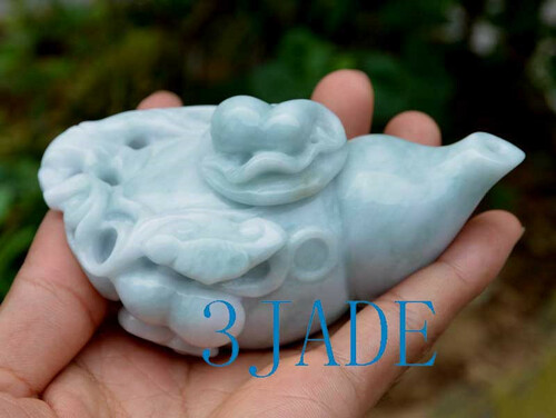 Burmese jadeite jade teapot