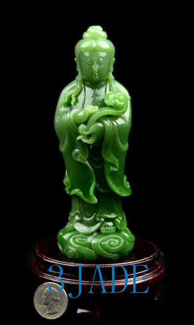 Top Grade Green Jade Kwan-Yin