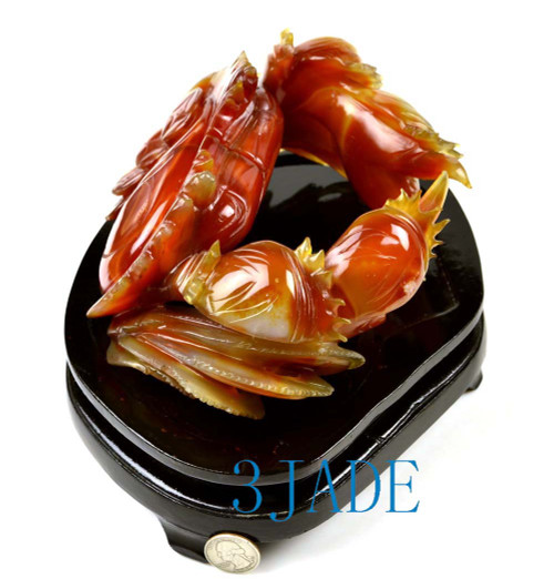 red agate crab statue