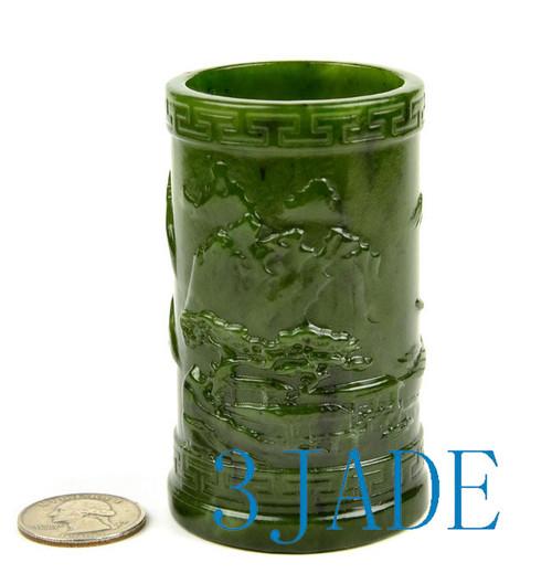 jade pencil holder